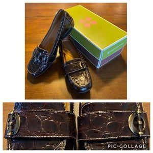 NIB Naturalizer patent croc shoes